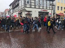 Demo_Fußgängerzone©Oberschule Nienburg